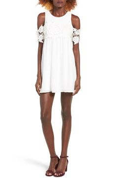 Main Image - Speechless Lace Trim Cold Shoulder Dress