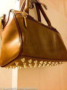"DIY Studded Handbag Inspired by Alexander Wang's ""Rocco"" with Hardware"