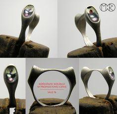 Silberschmuck - Silber Ring mit Emaille Nr.4 von MartaRudnicka auf DaWanda.com