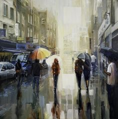 "Saatchi Online Artist Johnny Morant; Painting, ""Brick Lane in the Rain"" #art"