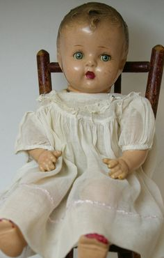 FYI This composition doll can be easily repaired with the same patching plaster you use to fix nail holes.