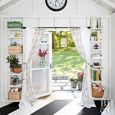 Your shed is already a hardworking space and things can get a little crowded. Check out these smart tips for storing more in your outdoor shed. You will cut down on clutter and might even find room for some stylish decor! #shedorganization #shed #organization Shed Building Plans, Diy Shed Plans, Barn Plans, Building Ideas, Shed Organization, Shed Storage, Organizing, Diy Storage, Outdoor Storage