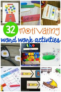 32 awesome word work centers for kindergarten or first grade! Great ideas for sight word games or literacy centers.