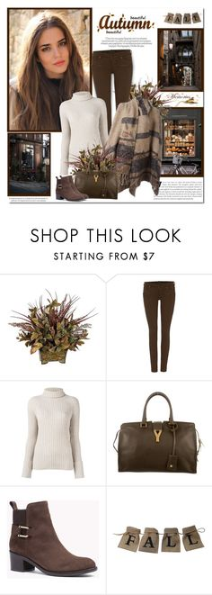 """Beutiful Autumn day!!"" by lilly-2711 ❤ liked on Polyvore featuring Prada, Maison Scotch, Erika Cavallini Semi-Couture and Yves Saint Laurent"