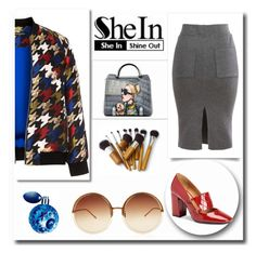"""""""Shein"""" by nikahgreenleaf ❤ liked on Polyvore featuring Manon Baptiste, Calvin Klein, Linda Farrow and Thierry Mugler"""