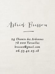 Tampon personnalisé adresse Aurore