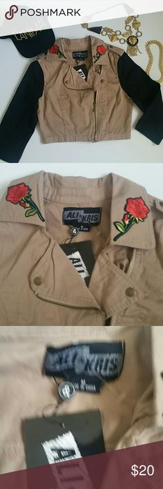 ROSE PATCH MOTORCYCLE JACKET Light weight rose patch motorcycle jacket. Ali & Kris Jackets & Coats