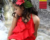 Pretty little girl's one piece swimwear. Comes in other solid colors in sizes 2-12.
