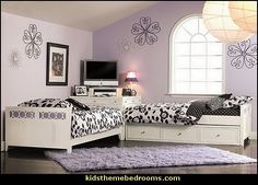 shared teen bedroom ideas | sharing bedrooms-decorating girls shared bedrooms