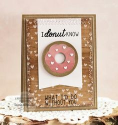 Cute donut card...yum!