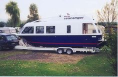 Image result for trailerable houseboats