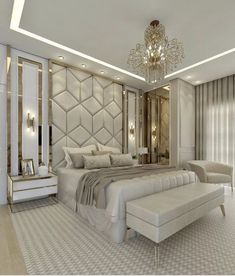 Modern Luxury Bedroom, Master Bedroom Interior, Room Design Bedroom, Luxury Bedroom Design, Bedroom Furniture Design, Home Room Design, Luxury Home Decor, Luxury Interior Design, Luxurious Bedrooms