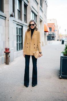 Banana Republic blazer, Paige jeans, TopShop boots, Clare V clutch (shop Clare V HERE), Gap turtleneck (shop black turtlenecks HERE), Saint Laurent sunglassesDo you ever dress by theme? I certainly