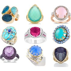 Rings Baby! - Jewelry, rings and lots of bling. Bold cocktail rings to wear to brunch or anytime. Woods of Bell Trees