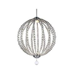 Feiss P1426-LED Oberlin LED Pendant Satin Nickel Indoor Lighting ($729) ❤ liked on Polyvore featuring home, lighting, ceiling lights, indoor lighting, pendants, satin nickel, sphere lights, feiss lamps, feiss lighting and feiss
