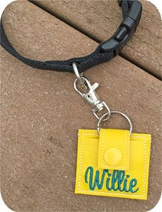 Brilliant!! Pet Tags Holder - Embroidery Garden In the Hoop Machine Embroidery Designs