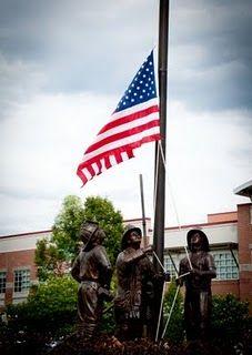 Bronze memorial for September 11th.