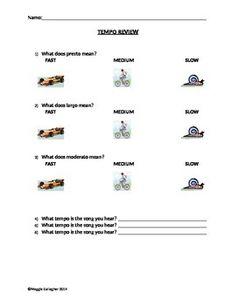 Music Worksheet Categories Musical Terms