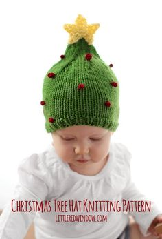 b252aa31b63 Christmas Tree Hat KNITTING PATTERN   My First Christmas   First Christmas  Hat   Funny Christmas Tree Baby Christmas Hat Knit Christmas Gift