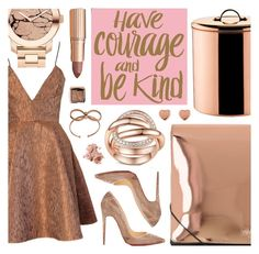 """""""Courage"""" by pastelneon ❤ liked on Polyvore featuring Joana Almagro, Old Dutch, Christian Louboutin, MM6 Maison Margiela, Movado, Ted Baker, Bobbi Brown Cosmetics and Hourglass Cosmetics"""