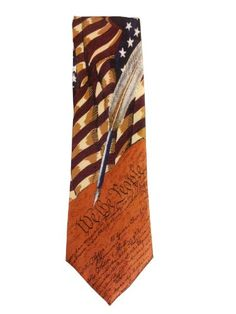 #Memorial Day New Collectible Patriotic Novelty Men's Constitution American Flag Necktie Tie « windowmountain.com