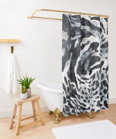Black and White Zebra and Leopard Animal Print Pattern.Find this Cool and Unique design available in T Shirt, Tote Bag, Hoodie, Tank and more Apparel. Home Decor Stuff like: Poster, Canvas Print, Throw Pillows, Floor Pillow, Duvet Cover, Throw Blanket, Shower Curtain, Comforter, Wall Tapestry and more. Also Phone Case, Laptop Case, Sticker etc. Best Gift Idea for yourself or your Loved ones! #zebra #leopard #print #animal #pattern #skin #showercurtain #bathroom #shower #curtain #decoration Sea Illustration, Bathroom Curtains, Shower Curtains, White Zebra, Leopard Animal, Indigo Dye, Beach Waves, Floor Pillows, Wall Tapestry