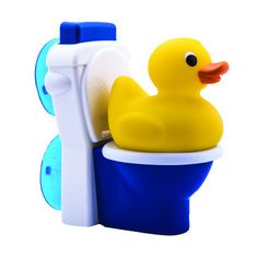 "Potty Duck Bath Toy includes a rubber duck that ""pees,"" a toy toilet that flushes. Hands on tool that make potty training fun for the child and easy for the parent!"
