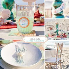 Here's our 2nd tablescape design for MADHOUSE, inspired by their gorgeous new OCEAN collection! Couldn't resist heading to a special location for this one. ;) More details + free printables on the post!