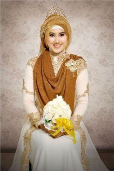model kebaya pengantin warna putih
