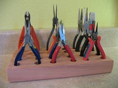 Redwood Hand Tool and Pliers Organizer, holds 12 tools