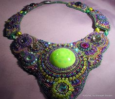 MARDI+GRAS++Bead+Embroidery+Necklace++2nd+Lay+away+by+4uidzne,+$453.00