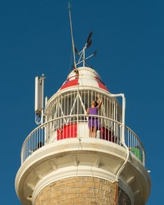 Punta Brava Lighthouse in Uruguay Also Known as Punta Carretan,built in 1876. It in the southern point of Montevideo