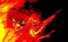 Asuka Langley Sohryu, Evangelion, art, fire, Neon Genesis Evangelion