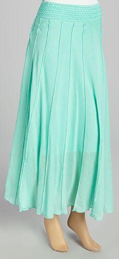 Mint Flare Maxi Skirt