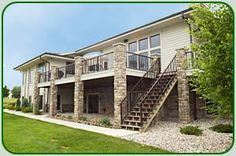 Two story deck with stone columns - Zach Building Co. - Exterior Photos Zach