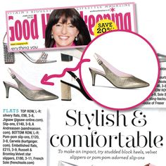 Stylish and comfortable shoes for bunions brought to you by Sole Bliss! Good Housekeeping recommend the 'Ayda' sling-back heel for bunions and wide feet