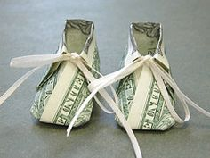 Dollar Bill Baby Shoe
