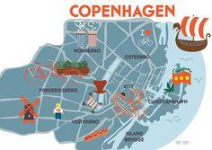 Copenhagen Map   Scandinavia