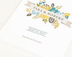 Wedding Guest Book Alternative Perpetual Birthday by PeraPress, $28.00