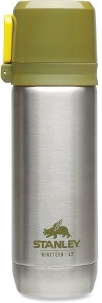 My search for the perfect travel mug/ thermos ended when I bought this Stanley bottle.  Keeps my tea hot for hours and hours. Easy to clean.  Plus, the cup doubles as a double-walled mug or can be separated into two mugs, so you can share with a friend!  Love, love, love it!
