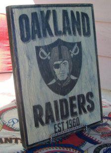 vintage raiders sign