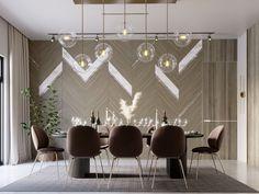 SHADES OF BEIGE on Behance Foyer Design, Dining Room Design, Wall Design, Dining Area, Dining Table, Luxury Dinning Room, Elegant Dining Room, Corner Sofa Design, Shades Of Beige