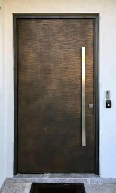 Doors CONTEMPORARY DOORS Over the years, doors have become a significant part of the Axolotl creative skill, with the vast. Modern Entrance Door, Modern Front Door, Entrance Doors, Front Doors, Main Door Design, Front Door Design, Renovation Facade, Stainless Steel Door Handles, Pivot Doors