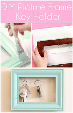 Never lose your keys again with this easy DIY picture frame key holder