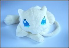 Mew Cream  Pokemon  Handmade Pocket Plush by REDPAWSHOP on Etsy, £60.00