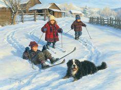 The Ski Team by Robert Duncan