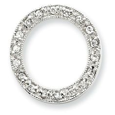 Sterling Silver Cz Circle Chain Slide Pendant Shop4Silver. $24.82. Approximate Width: 19 MM (0.74 INCHES). Approximate Length: 20 MM (0.78 INCHES). Save 69% Off!