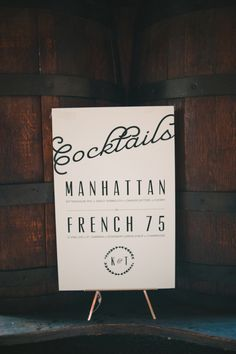 Wedding Stationery Inspiration: Signature Drink Signs