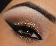frootibeauty: Gold Glitter Makeup Look