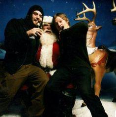 Baby Reedus and Santa Claus